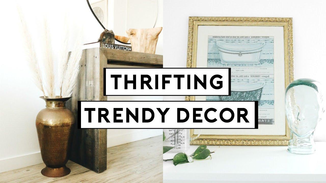[VIDEO] – THRIFTING TRENDY HOME DECOR! DIY THRIFT FLIP + UPCYCLE | Nastazsa