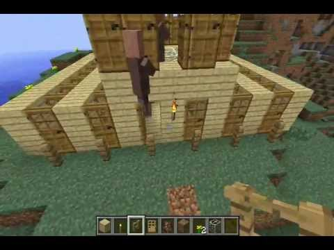how to build a villager house in minecraft