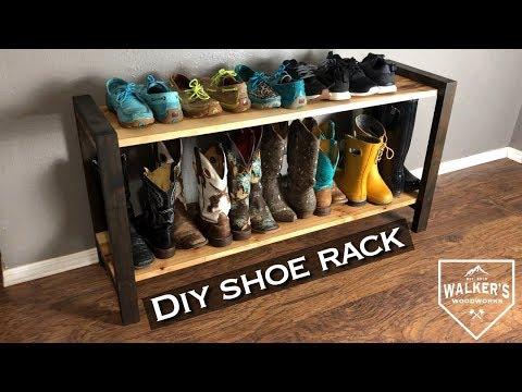 DIY simple modern shoe rack
