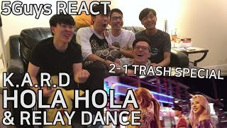 [TRASH FANBOYS] KARD - HOLA HOLA (5Guys MV REACT)