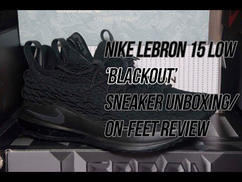 Lebron 15 Low Blackout | Solepost Unboxings