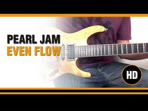 How to play Even Flow from PEARL JAM - Electric Guitar GUITAR LESSON