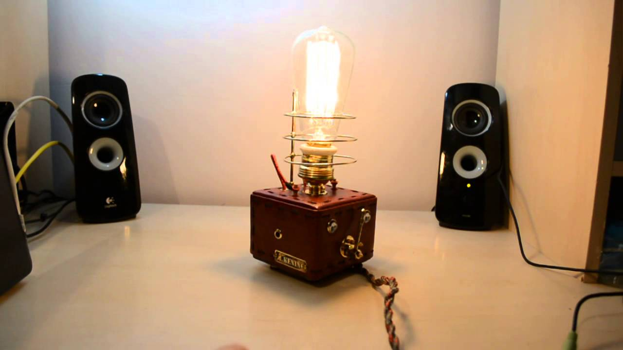 Steampunk lamp , with Edison bulb - YouTube
