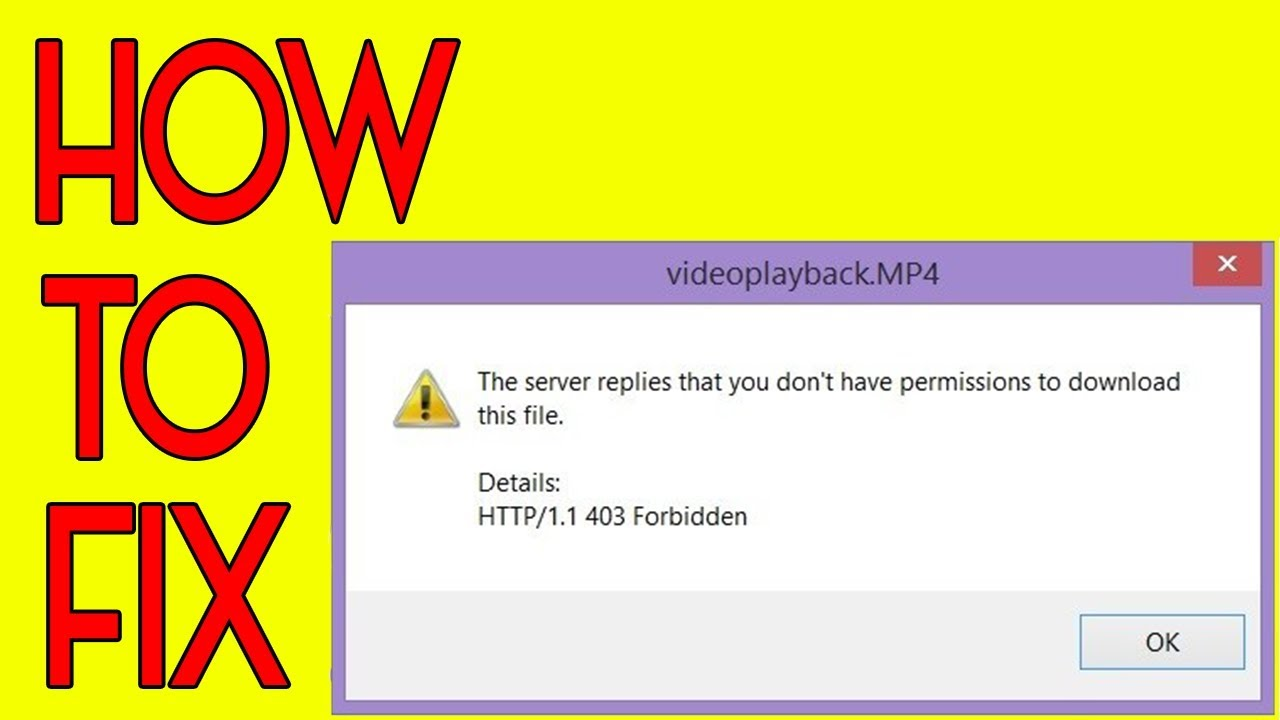 How To fix IDM error the server replies that you don't have permission to download this file