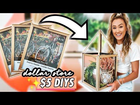 DOLLAR STORE DIY CHALLENGE ☆  $5 Room Decor Projects