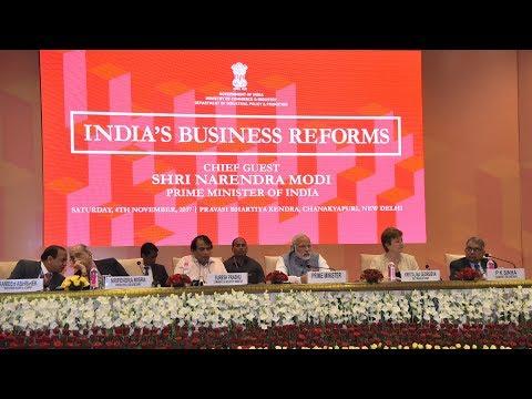 PM Modi attends Ease of Doing Business event at Pravasi Bharatiya Kendra, New Delhi