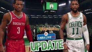 NBA Live 18 Demo Gameplay | Boston Celtics vs Houston Rockets 1st Half (Updated Rosters!)