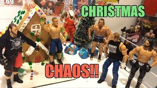 GTS WRESTLING: CHRISTMAS Chaos! WWE Mattel Elites Action Figure Animation PPV Event!