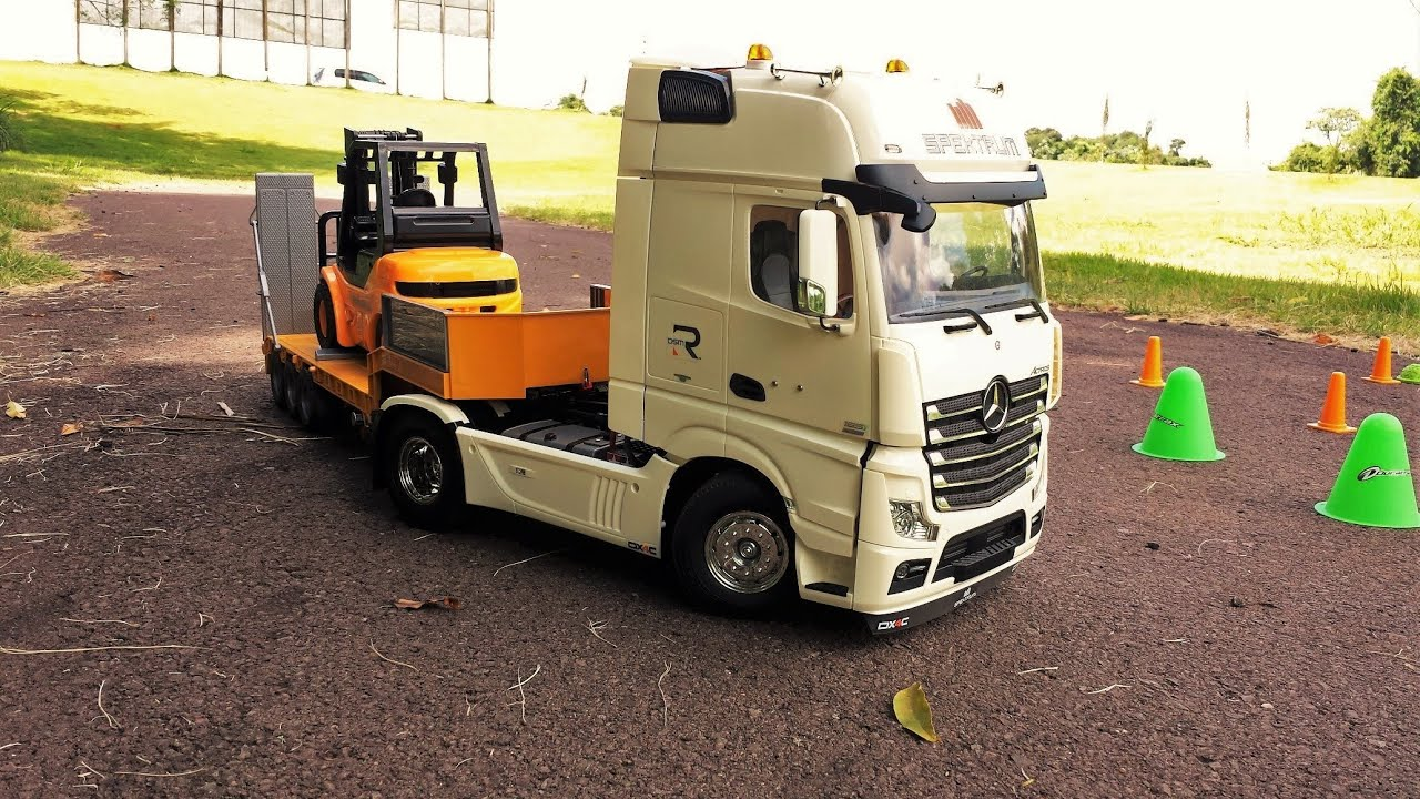 Mini caminh o rc 1 14 mercedes benz actros truck for Rc mercedes benz