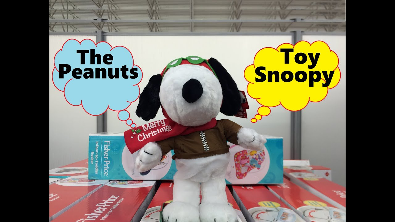 Peanuts Snoopy Charlie Brown Movie Happy Dance Song Walmart Plush ...