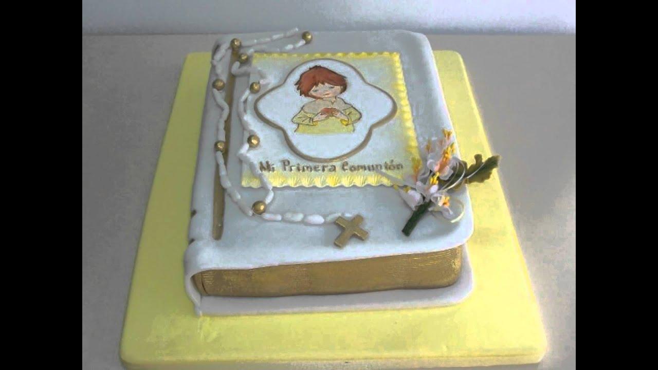 torta de primera comunion biblia
