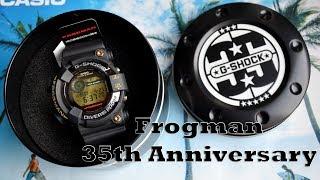 Обзор Casio GF-8235D-1BJR G-SHOCK 35th Anniversary Frogman | Юбилейный Фрогман | Модель 2018 года