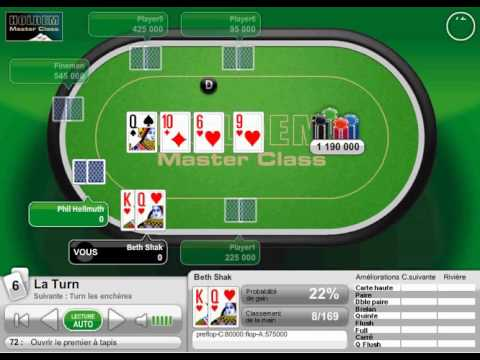 72 Poker Master Class Ouvrir Le Premier A Tapis Youtube