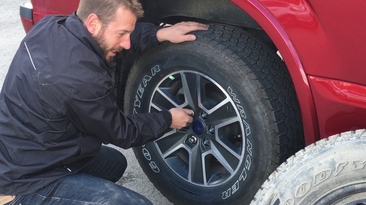 how to change a tire on a ford f 150 fernie bc youtube. Black Bedroom Furniture Sets. Home Design Ideas