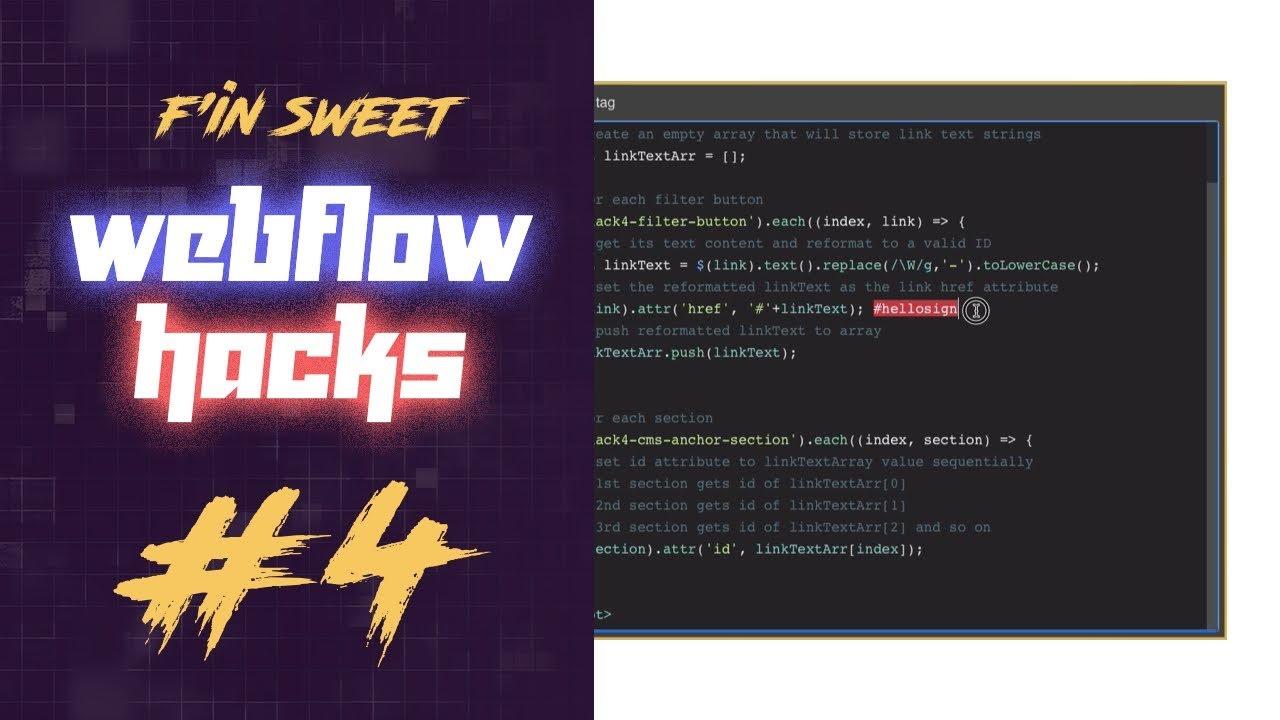 F'in sweet Webflow Hacks - #4 - Create dynamic Webflow CMS
