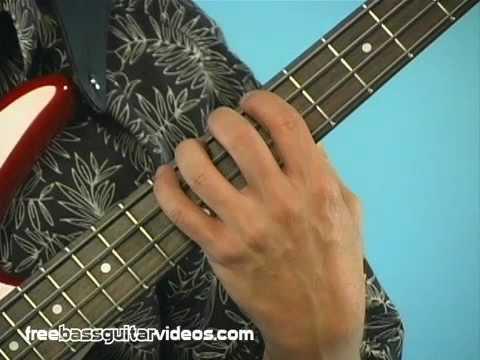 beginner bass guitar lesson left hand technique youtube. Black Bedroom Furniture Sets. Home Design Ideas
