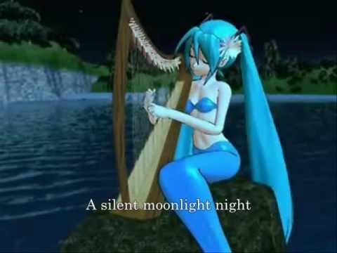 """Hatsune Miku """"Shizuka na tsuki no yoru"""" (A Silent Moonlight Night) PV English subtitles"""