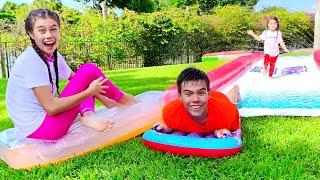 Nastya aprendeu a nadar na piscina, nova história para crianças Mia