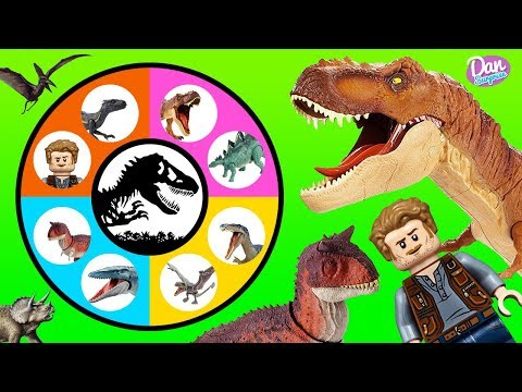 JURASSIC WORLD FALLEN KINGDOM SLIME WHEEL GAME Dinosaur Toys and Movie Toys for Kids!