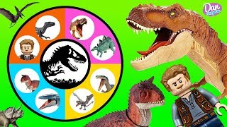 JURASSIC WORLD FALLEN KINGDOM SLIME WHEEL GAME Dinosaur Toys and Movie Toys for Kids! thumbnail