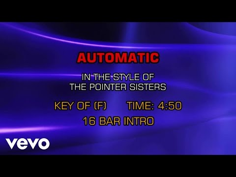 Pointer Sisters - Automatic (Karaoke)