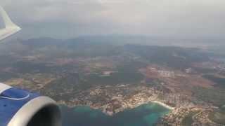 British Airways G-LCYN LCY-PMI E190 Landing Majorca - Beautiful Long Aproach - HD 2k 19 May 2015