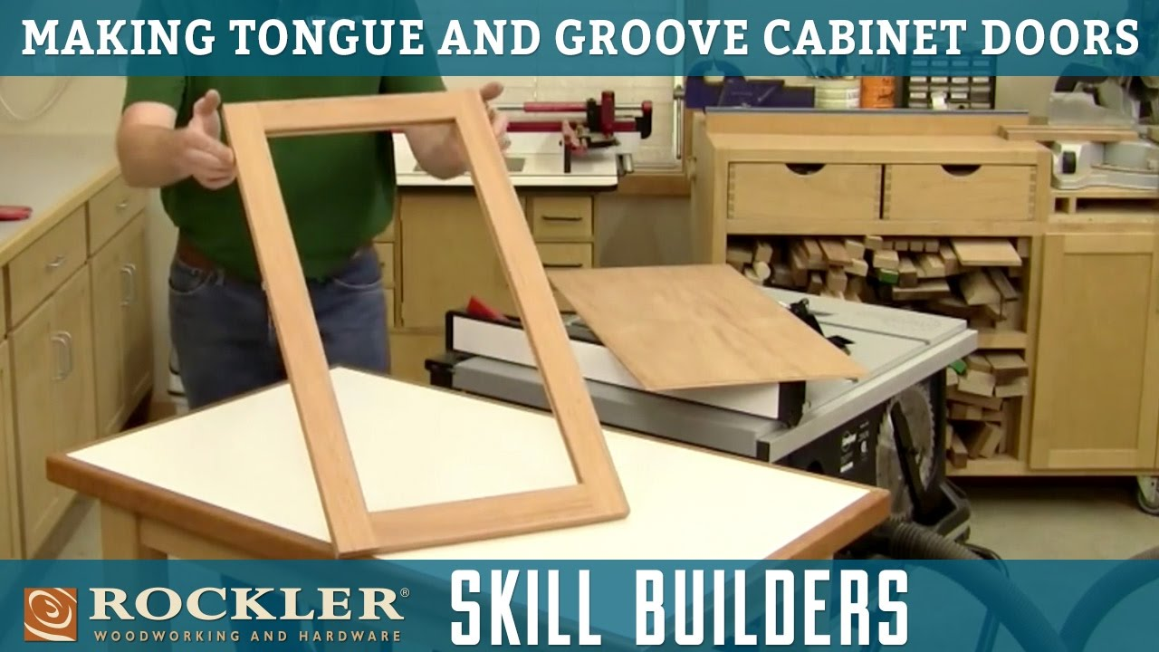 How To Make Tongue And Groove Cabinet Doors Rockler Skill Builders