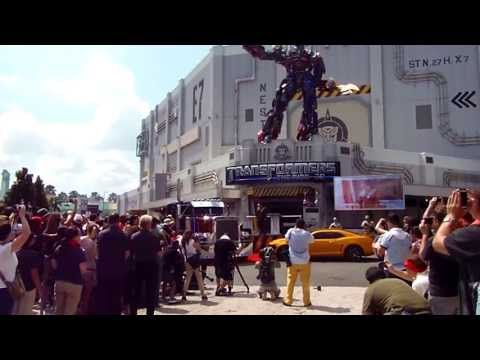 Transformers The Ride - 3D Orlando Grand Opening Part 6 - General Morshower + Decepticons attack!