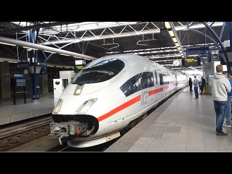 ICE - Inter City Express -  German High Speed Train Arriving At Brussels South Railway Station