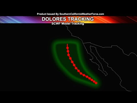 Dolores To Send Shower and Thunderstorm Activity Into Southland Over The Weekend