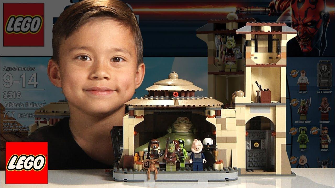 Jabbas Palace Lego Star Wars Set 9516 Time Lapse Build Unboxing