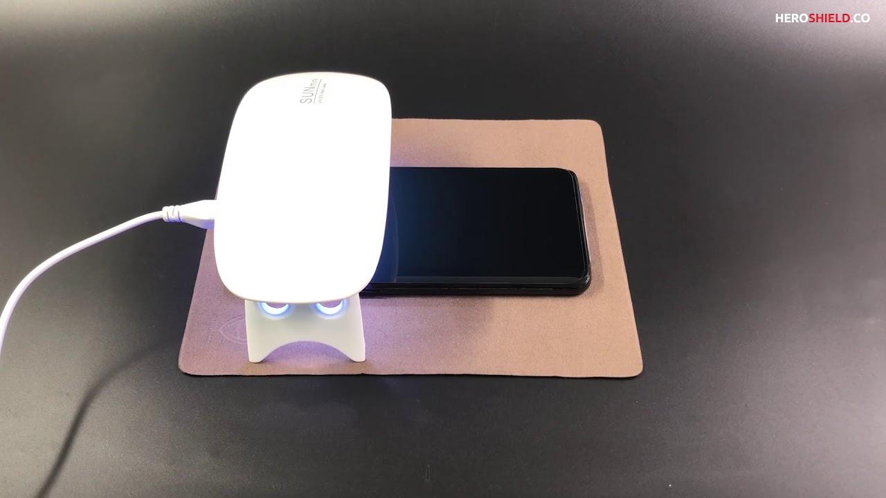 [HEROSHIELD] Installation Video of Privacy Liquid Screen Protector (Samsung  Galaxy S9 Plus/Note 9)