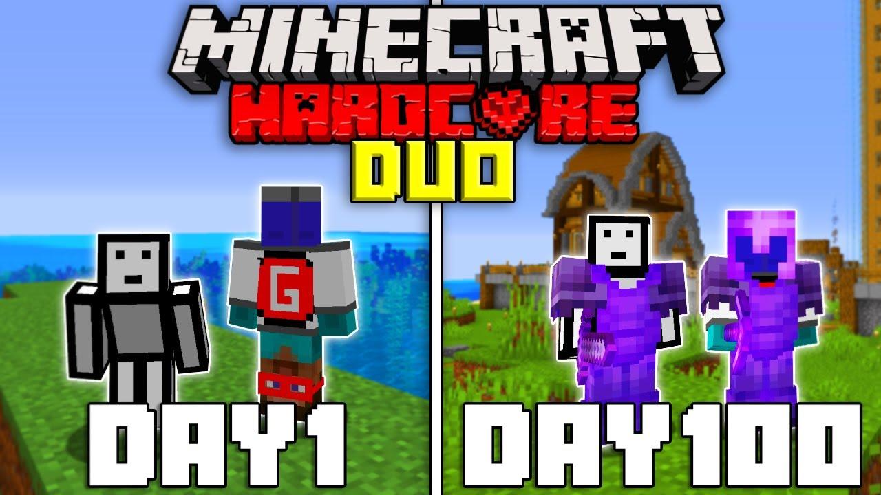 Download We Survived 100 Days In Hardcore Minecraft   Duo Minecraft Hardcore 100 Days