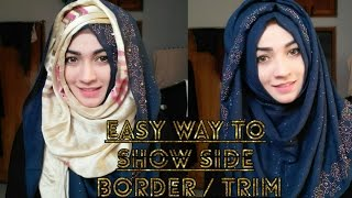 Easy Hijab Style showing the Side Design