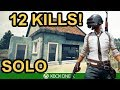 PUBG / 12 KILL SOLO WIN / Xbox One X