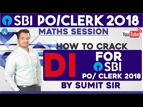 SBI PO/CLERK| How To Crack D.I. for SBI PO/Clerk 2018 | Sumit sir | Call us 8750016167