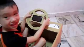 [DIY] How to Make a Best BIG Gaming  Steering Racing Wheel Car