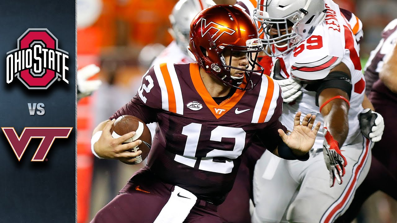 ohio state vs virginia tech acc football highlights