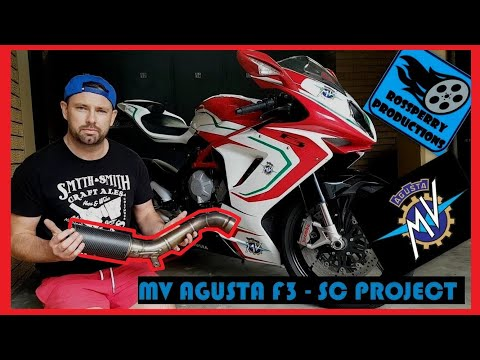 MV Agusta F3 How to change Standard to a SC Projects Racing Exhaust / Can Installation 675 / 800