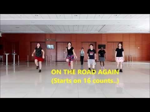 Line Dance On The Road Again- SONJA HEMMES (Demo & Walk Thro')