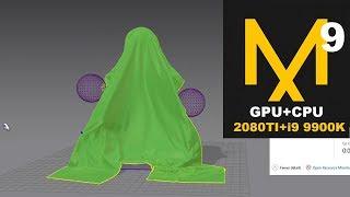 Marvelous Designer 9 cloth simulation on GPU 2080Ti and  intel i9 9900k. Part 2