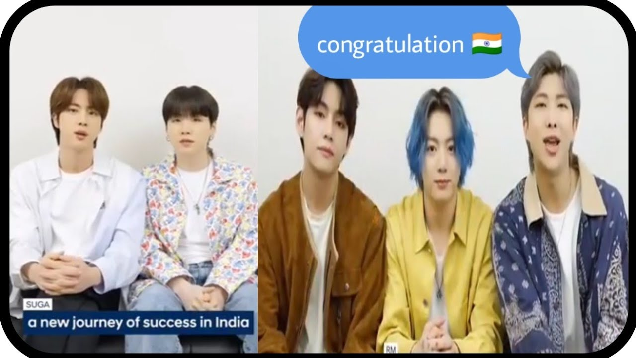 "🇮🇳BTS -""Congratulation India""/BTS mentioning India🎉"
