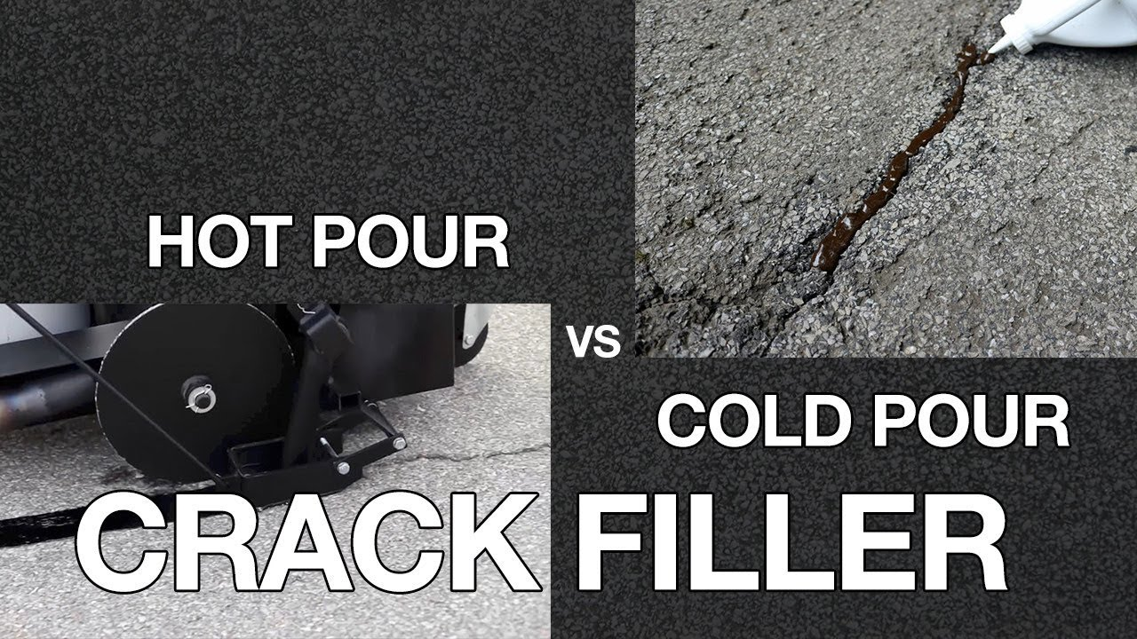 asphalt crack sealer temperature