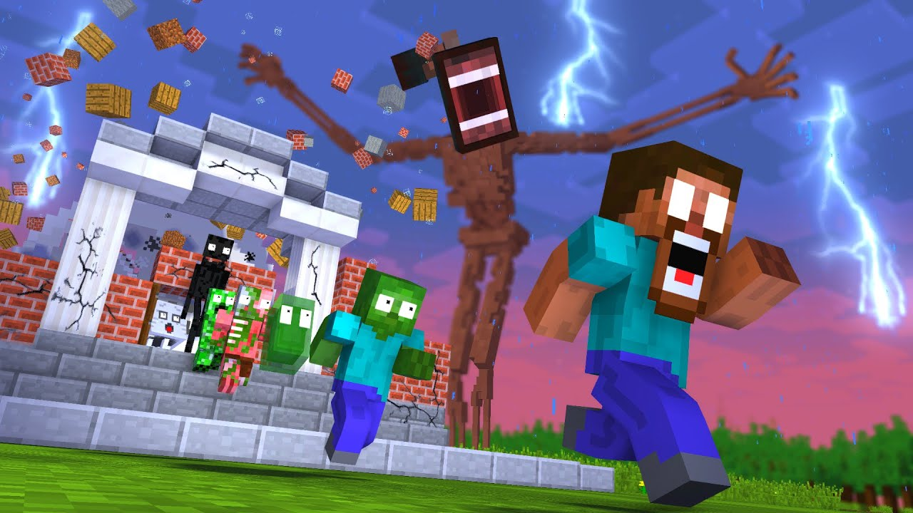Download Monster School : SIREN HEAD RIP WITHER GIANT APOCALYPSE ATTACK ESCAPE - Minecraft Animation