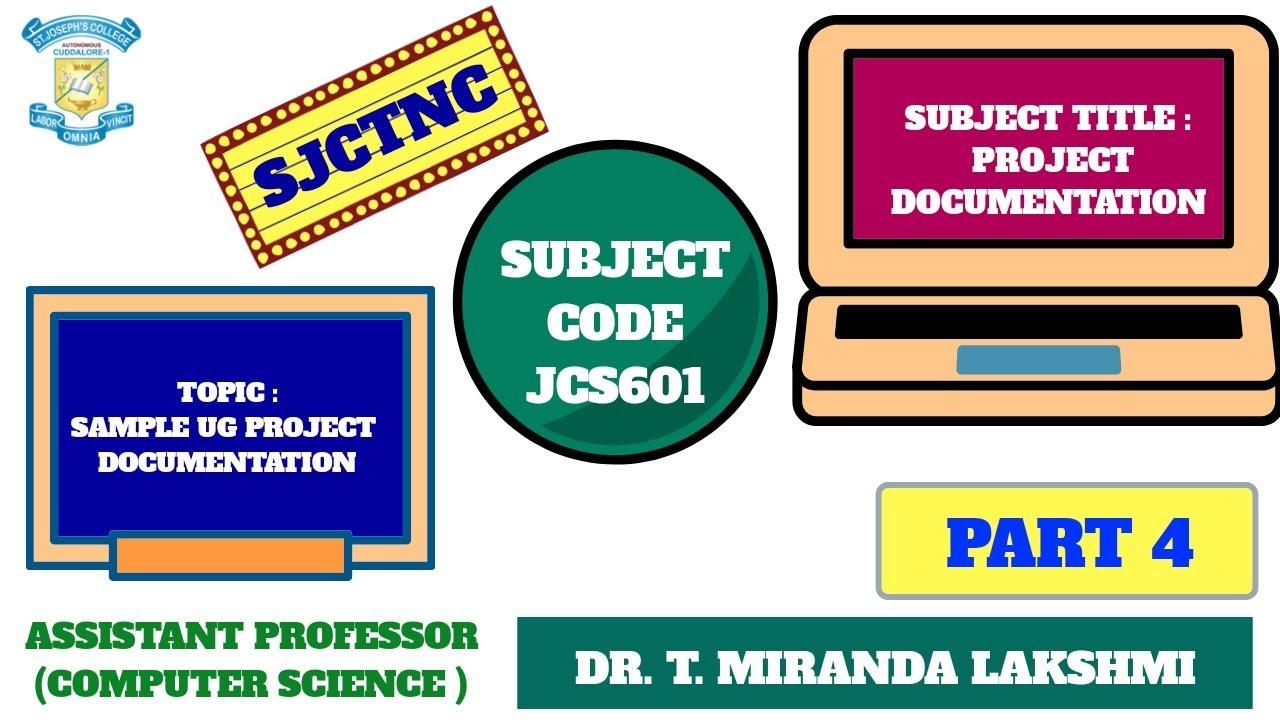 Sjctnc Jcs601 Ug Sample Project Documentation System Analysis Design Part 4 Youtube