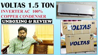 Voltas 1.5 ton inverter AC (183VJZJ, Copper Condenser) Unboxing & Review | in Telugu