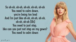 Taylor Swift You Need To Calm Down Lyrics.mp3