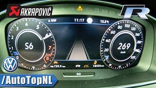 VW GOLF 7.5 R AKRAPOVIC 310HP ACCELERATION & TOP SPEED 0-269km/h LAUNCH CONTROL by AutoTopNL
