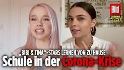 Katharina Hirschberg & Harriet Herbig-Mattan lernen wegen Corona-Krise zu Hause aus | Bibi & Tina