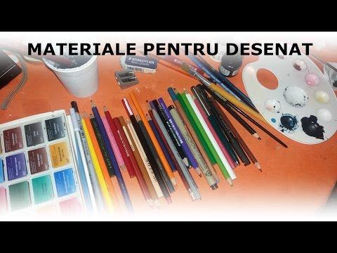 Materialele pe care le folosesc pentru a desena | Art suppli